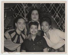 Celeste Mendoza and friends (1950s).