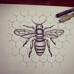 Bee dotwork by Wesche                                                                                                                                                                                 More