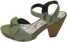 Bursa Khaki Green Vegan Platform Sandals