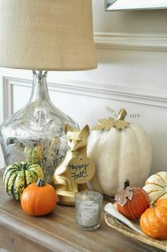 Welcome fall vignette