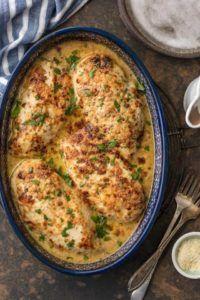 MELT IN YOUR MOUTH CAESAR CHICKEN Baked Chicken Recipes, Crockpot Recipes, Keto Chicken, Vegan Recipes, Glazed Chicken, Crockpot Dishes, Chicken Meals, Chicken Pasta, Casserole Recipes