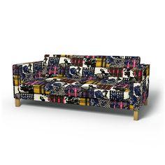 Karlstad, Housses de canapé, 3 places, Regular Fit utiliser le tissu Sir Harald Multi