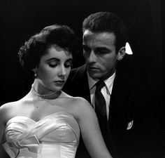 1950 Elizabeth Taylor and Montgomery Clift from the set of 'A Place in the Sun', LIFE.com