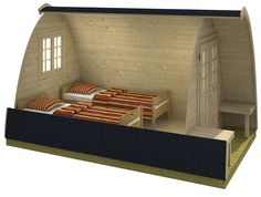 Log Cabin Camping Pod 2.33 x 4m