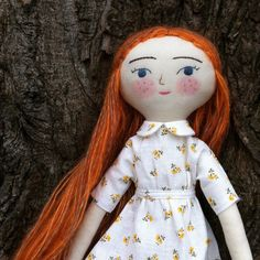 Tiny Handmade Dolls yellow floral dress Peter Pan by NeedleBook