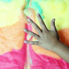 Jell-O Soap Foam Sensory Play