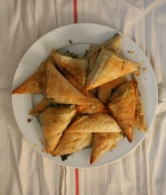 Fennel and herb phyllo pastries