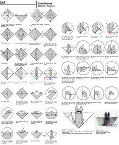 Origami Instructions: Bat