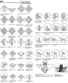 Origami Instructions: Bat
