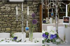 ♥♥♥ Schöne, 5 armige Kerzenständer (80 cm) als Tischdekoration mit Tischnummer für Hochzeit  http://www.weddstyle.de/kerzenstaender-mieten.html #weddstyle