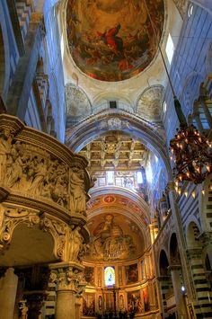 Duomo or Cathedral interior in Pisa Italy. As always, thanks for the views and comments. Happy Monday and have a great week ahead!