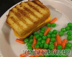 April Fools Day 2013 - Grilled Cheese Peas & Carrots for Dessert | NothingButCountry.com