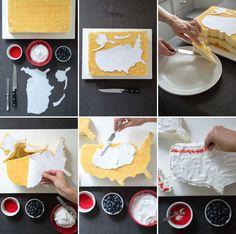 Jordan Ferney's DIY U.S.A. cake!