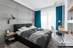 bedroom with concrete Bed Back, Modern Interior, Living Room, Bedroom, Inspiration, Furniture, Design, Home Decor, Modern Bedding