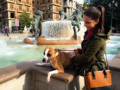 That taste power walk with your wife and your pet for a big city like ours. #Plazadelavirgen
