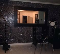 Glitter should be hung the same way as it comes off the roll, if not there will be a shading difference. Apply the wallpaper paste to the wall evenly. Do not allow wallpaper paste to get onto the face of your Glitter, removal will be impossible. | eBay!