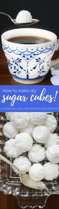DIY Sugar Cubes ~ these fancy sugar cubes are surprisingly easy to make, and can transform morning coffee or afternoon tea into a truly memorable occasion! #tea #sugarcubes #sugar #diysugarcubes #hightea #afternoontea #mothersday #diy