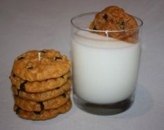 Milk and Cookies Candle Set, Chocolate Chip Cookie, Highly Scented, Unique Candle, Home Decor Candles, Fake Food best #candle #making