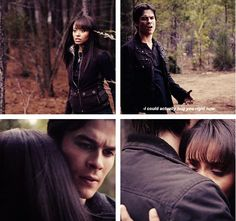 I love how Damon shows he actually does care. And, face it, they both needed the comfort.
