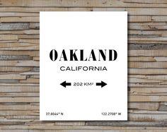 OAKLAND PRINT. Oakland California. Oakland Art. by SITMPrintables