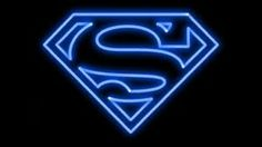 Neon superman