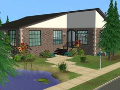 Mod The Sims - 3 BR 2 BA Fully Furnished No CC Home!