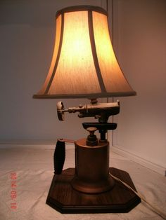 Antique Blow Torch Repurposed Industrial Steampunk Jute Rope Cord Table Lamp  | Torches, Jute And Repurposed