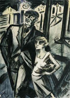 Frans Masereel, Le Trottoir, 1927