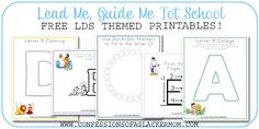 FREE LDS Tot School Printables!