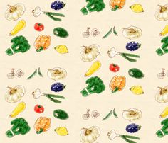 Vegetables fabric by jadegordon on Spoonflower - custom fabric