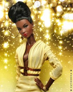 Nadja | cutieerica | Flickr African American Beauty, African American Dolls, Beautiful Barbie Dolls, Pretty Dolls, Fashion Royalty Dolls, Fashion Dolls, Afro, Close Up, Beautiful Black Babies