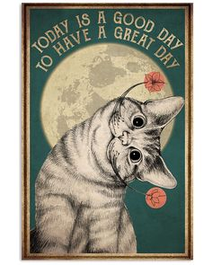 I Love Cats, Crazy Cats, Cool Cats, Vie Motivation, Cat Posters, Film Posters, Cat Store, Cat Quotes, Here Kitty Kitty