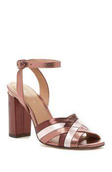 601e68d34e Pour La Victoire - Hadley Leather Sandal Ankle Strap Heels, Ankle Straps,  Leather Sandals