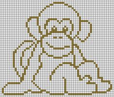 Résultat d'images pour monkey cross stitch patterns Embroidery Stitches, Embroidery Patterns, Cross Stitch Patterns, Blackwork Patterns, Cross Stitch Boards, Mini Cross Stitch, Filet Crochet Charts, Crochet Cross, Crochet Monkey Pattern