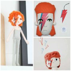 Dolls of David Bowie by Whisper of the Pipit, Pollaz, Lelelere.