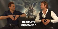 Chris Hemsworth and Tom Hiddleston--the ultimate bromance, both on and off the big screen.