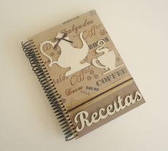 CADERNO DE RECEITAS CAFÉ | Arte DCasa - Presentes & Decorações | Elo7
