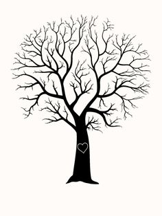 Family Tree Template No Leaves tree without leaves coloring page. a little girl watching . Wood Burning Stencils, Wood Burning Crafts, Wood Burning Patterns, Wood Burning Art, Wood Crafts, Stencil Wood, Wedding Tree Guest Book, Guest Book Tree, Tree Wedding