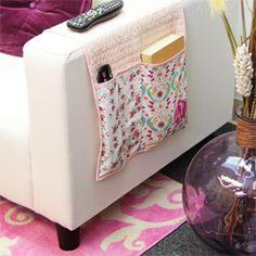 See how to make this sofa organizer! (via Art Gallery Fabrics)
