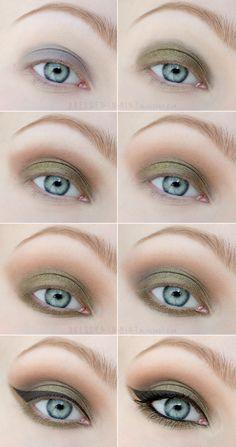 Dressed in Mint: make up. - Kryptonite / Step by Step