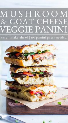 Vegetarian Panini, Best Vegetarian Sandwiches, Best Vegetarian Recipes, Vegetarian Dinners, Vegetarian Options, Healthy Recipes, Best Panini Recipes, Bean Recipes, Top Recipes