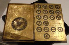16th century French cipher machine in the form of a book.