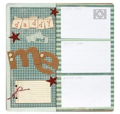 Scrapbook Page 12 x 12 Boy Layout - Daddy and Me.Premade Scrapbook Page 12 x 12 Boy Layout - Daddy and Me. Baby Boy Scrapbook, Album Scrapbook, Baby Scrapbook Pages, Papel Scrapbook, Scrapbook Sketches, Scrapbook Page Layouts, Scrapbook Paper Crafts, Scrapbook Frames, 6 Photos