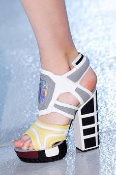Rodarte Spring 2013 runway shoes. Damn you Rodarte! Three seasons in a row you've had some of my favorite shoes....all of which are a smidge out of the price range.