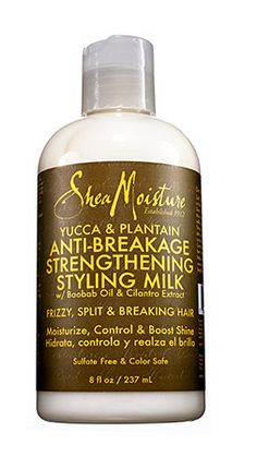 For natural hair  Using plants native to Latin and Central America, this Shea Moisture Yucca & Plantain Anti-Breakage Strengthening Styling Milk ($10.99, walgreens.com) is a lightweight cream that conditions as it boosts body.