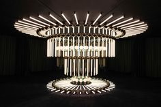 Lee Broom creates KALEIDOSCOPIA, a deceiving optical chandelier composed of reflected optical illusions for London Design Festival