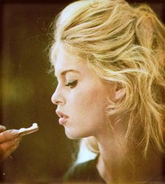 Bardot. Eating in a second.