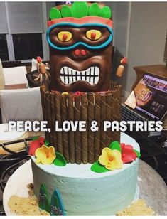 Peace, Love & Pastries #Nola #BirthdayCake #Tiki #BeachCake