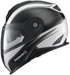 Schuberth Sport Dark Wave - White from the UK's leading online bike store. Sport Bike Helmets, Motorcycle Helmet Design, Biker Helmets, Sport Bikes, Motorcycle Parts, Bicycle Helmet, Cool Motorcycles, Motorbikes, Gloves