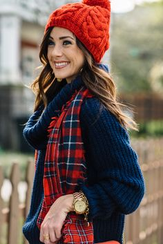 DISTRESSED DENIM FOR UNDER $60 + RED PLAID SCARF   Sequins & Things